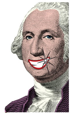 Cartoon depiction of George Washington