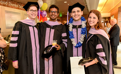 Four DDS graduates celebrate during honors convocation brunch