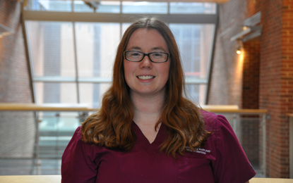 Dual PhD/DDS student Devon Allison will pursue a dual career as a researcher and clinician
