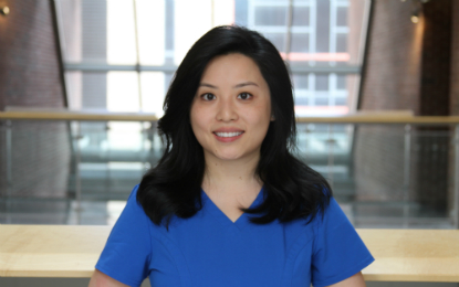 Jie Ge, recipient of the 2017 ADEA/GlaxoSmithKline Consumer Healthcare Preventive Dentistry Scholarship.