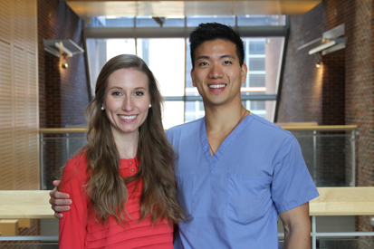 Leah Romay'16, and David Chen'14, Prosthodontics Residents.