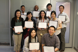 2017 Summer Research Training Program participants pose with certificates.