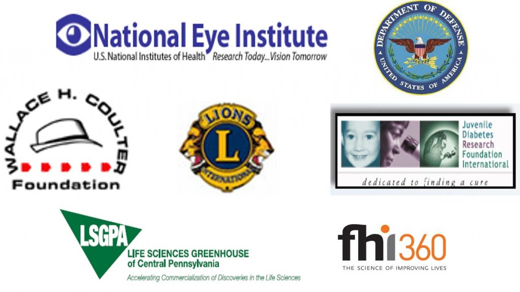 Funding provided by: the National Eye Institute, the United States Department of Defense, the Wallace H. Coulter Foundation, Lions Club International, Juvenile Diabetes Research Foundation International, Life Sciences Greenhouse of Central Pennsylvania, and FHI 360