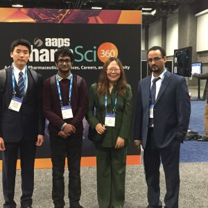 Dr. Lowe and colleagues at AAPS PharmSci360 in 2018